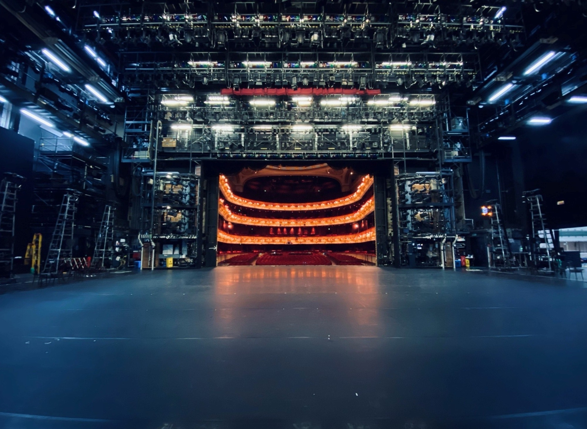 Photograph of the Royal Opera House stage